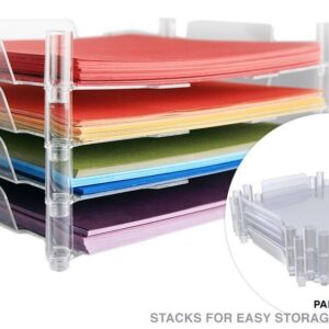 Tray - WR - Stackable Paper Tray - 12 x 12 - 4 Pack - In Retail Box