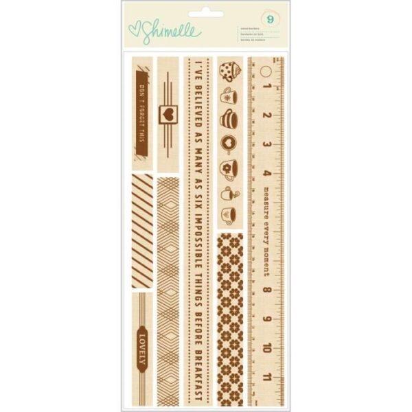 Embellishments - AC - SL - True Stories - Wood Borders (9 Piece)