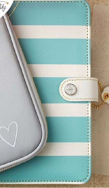 Color Crush BINDER ONLY - Teal/White Stripe