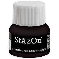 StazOn Wide Mouth Bottle - Jet Black
