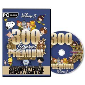 300 Figuras Premium para Silhouette /SCAN N CUT/ CRICUT- V. 5