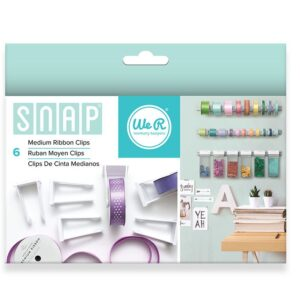 Ribbon Clips - We R - Snap Storage - Medium (6 Piece)