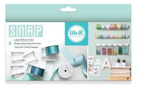 Ribbon Clips - We R - Snap Storage - Large (6 Piece)