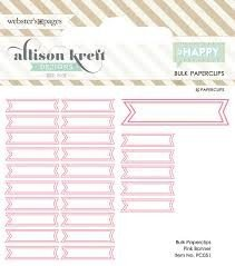 Paperclip 25pc Banner - Pink