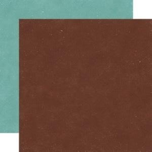 Papel para scrapbooking Echo Park Hot Chocolate/Pine Green