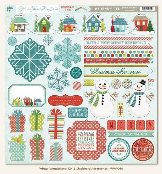 Winter Wonderland: 12x12 Chipboard Accessories