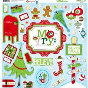 Chipboard 12x12 - Mistletoe