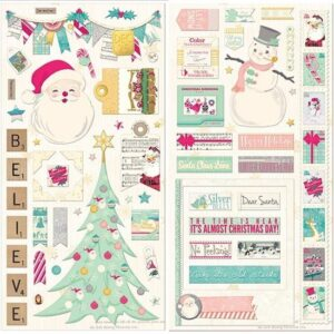 Candy Cane Lane Chipboard
