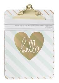 Clipboard w/Print - AC - 9 x 12.5 - Diaganol Stripes