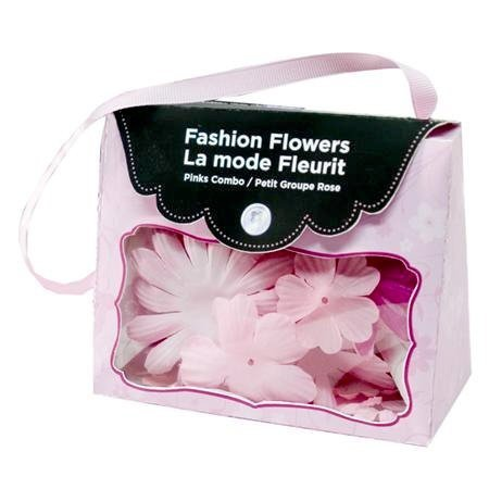 Fashion Fabric Flowers - Pinks
