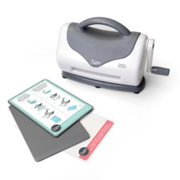 Sizzix Texture Boutique Embossing Machine Only (White & Gray) by Ellison