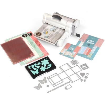 Sizzix Big Shot Plus Starter Kit (White & Gray) by Ellison (US Version)