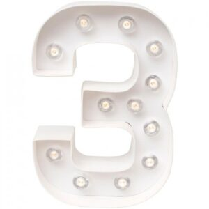 Marquee Numbers - HS - Number 3