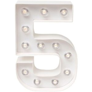 Marquee Numbers - HS - Number 5