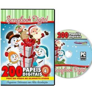 DVD 200 Papéis Digitais para Scrapbook Volume 4
