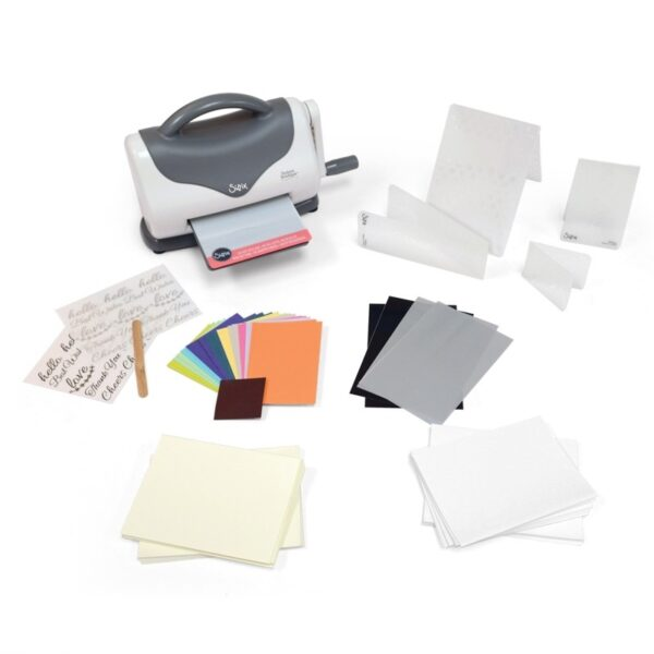 Sizzix Texture Boutique Embossing Machine Starter Kit (White & Gray) by Ellison