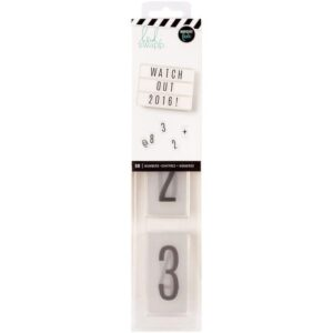 Number Inserts - HS - LightBox - Black