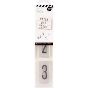 Number Inserts - HS - LightBox - Black