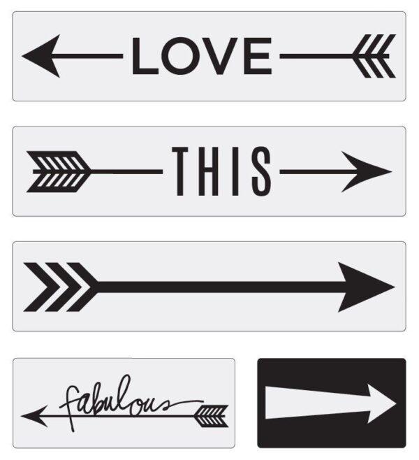 Word Strips - HS - LightBox - Arrows