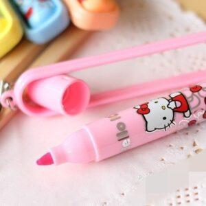 Marca texto Hello Kitty Kawaii Pink