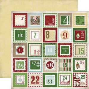Papel para scrapbooking Carta Bella So This Is Christmas Countdown