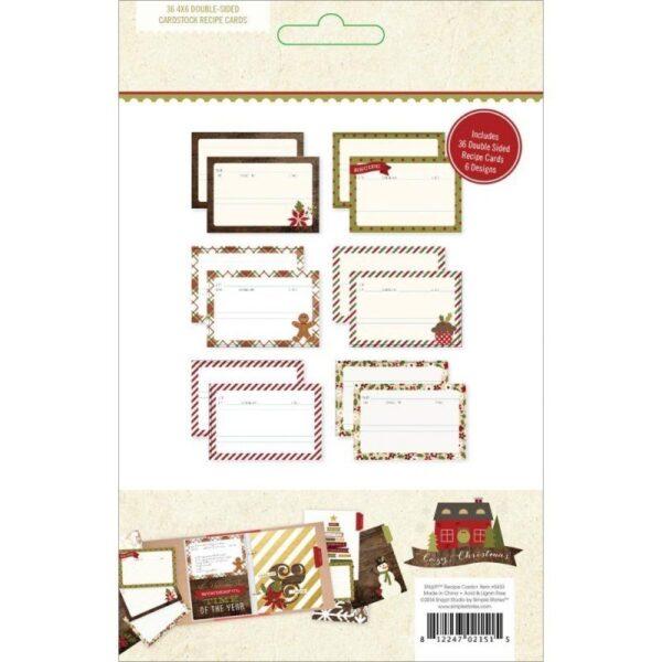 Recipe Cards - Cozy Christmas