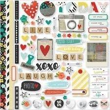 Fundamentals Cardstock Stickers - Life In Color
