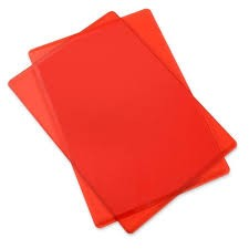 Sizzix Accessory - Cutting Pads, Standard, 1 Pair (Cherry Red)