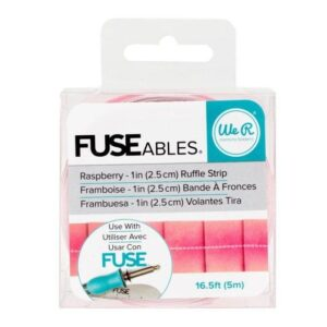 Embellishments - We R - FUSEables - Ruffle Tape - Raspberry - 16.5 Feet