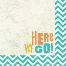 Papel para scrapbooking Simple Stories Here We Go!