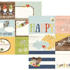 Papel para scrapbooking Simple Stories 4x6 Horizontal Journaling Elements