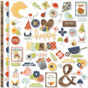 Papel para scrapbooking Simple Stories Fundamentals Cardstock Stickers - Bloom & Grow
