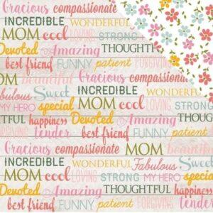 Papel para scrapbooking Echo Park Mom Words