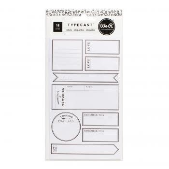 Labels - WR - Typecast - Large - 2 Sheets