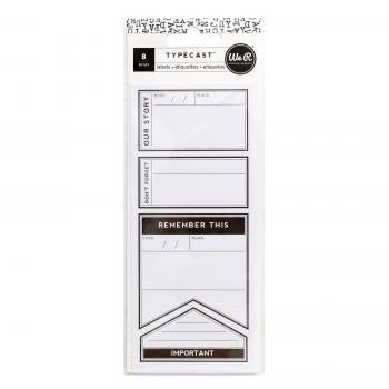 Labels - WR - Typecast - Small - 2 Sheets