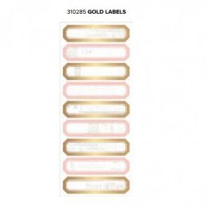 Labels - WR - Typecast - Gold - 2 Sheets