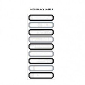 Labels - WR - Typecast - Black - 2 Sheets