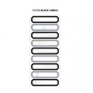 Labels - WR - Typecast - Black - 2 Sheets