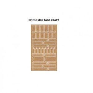 Tags - WR - Typecast - Mini - Kraft (34 Piece)