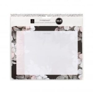 Notepads - WR - Typecast - Desktop - Flowers - 52 Sheets