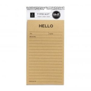 Notepads - WR - Typecast - Notepad - Hello - 25 Sheets