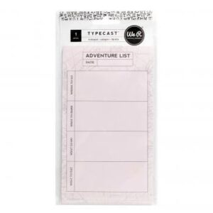 Notepads - WR - Typecast - Notepad - Adventure - 25 Sheets