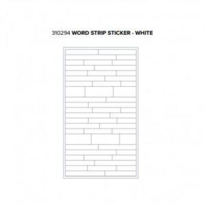 Stickers - WR - Typecast - Word Strip - White (54 Piece)