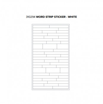 Stickers - WR - Typecast - Word Strip - White (54 Piece)