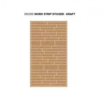 Stickers - WR - Typecast - Word Strip - Kraft (54 Piece)