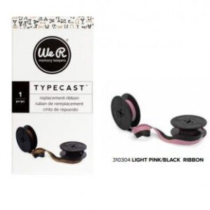 Ribbon - WR - Typecast - Light Pink/Black