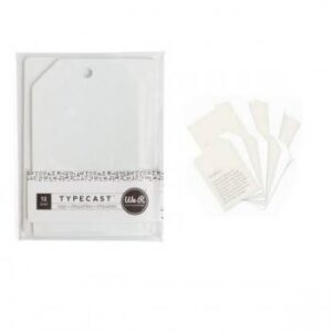 Tag & Card Set - WR - Typecast - Cream (12 Piece)