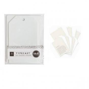 Tag & Card Set - WR - Typecast - Cream (12 Piece)