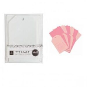 Tag & Card Set - WR - Typecast - Pink (12 Piece)
