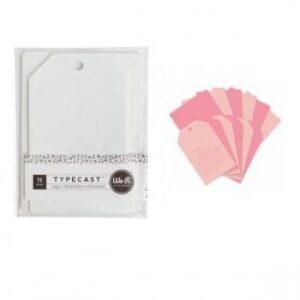 Tag & Card Set - WR - Typecast - Pink (12 Piece)